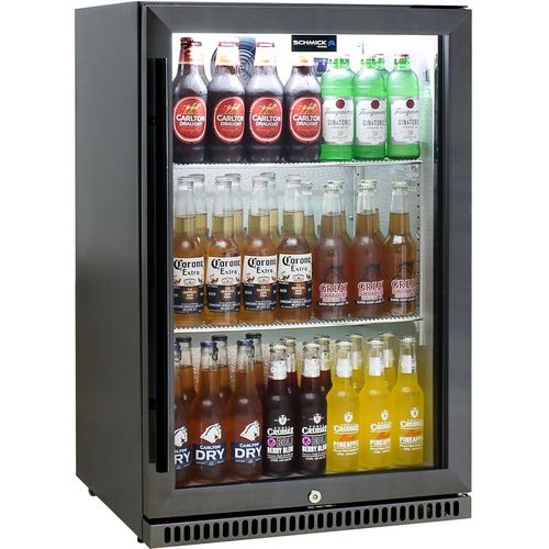 Schmick Black Stainless Steel Alfresco Bar Fridge SK118R-BS