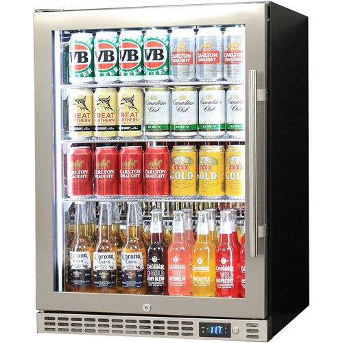 Schmick OWL Front Venting Glass Door Bar Fridge SK156-SS