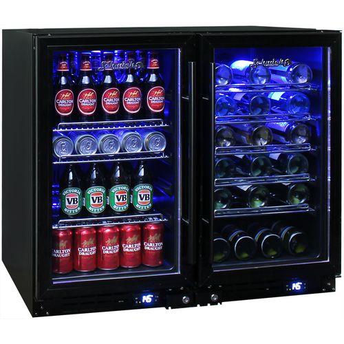 Under Bench Beer And Wine Combination Fridge JC95-Combo-B