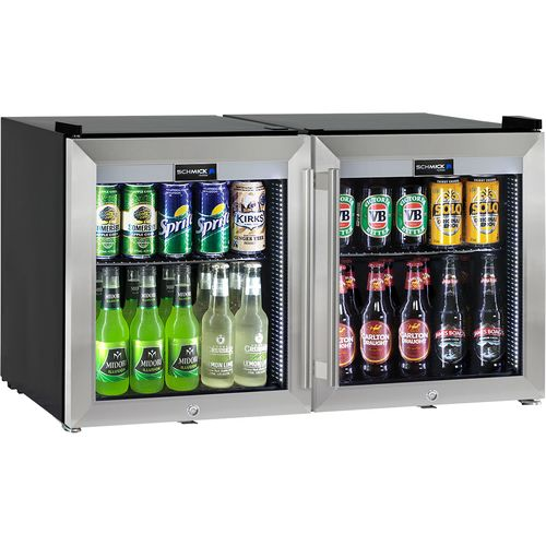 2 Door Alfresco Mini Tropical Glass Door Refrigerator