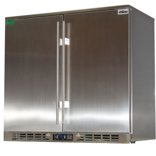 Rhino 2 Door All Stainless Steel Bar Fridge Model SG2H-SD
