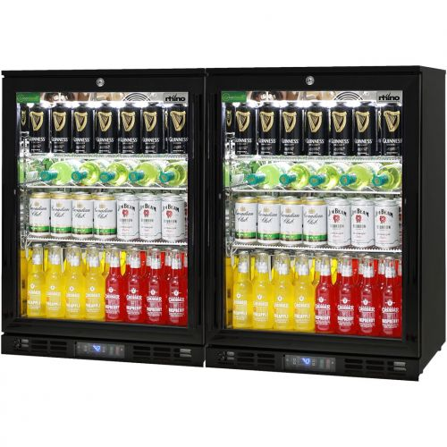 Quiet Running Indoor Rhino Bar Fridge Model SG1-Q-Combo - 2 x Single Door Units Side By Side