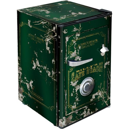 Dark Green Safe Bar Fridge BC70