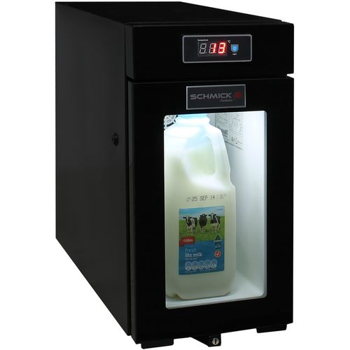 Mini Milk Fridge For Coffee Machine With Pre Drilled 6mm Hose Holes