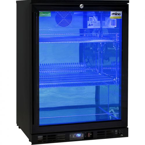 Rhino Nightclub Pub Bar Fridge With Multi LED Light Options -  Model SG1R-NC