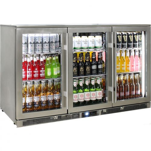 Rhino 3 Door Alfresco Outdoor Glass Door Bar Fridge  Model ENV3H-SS