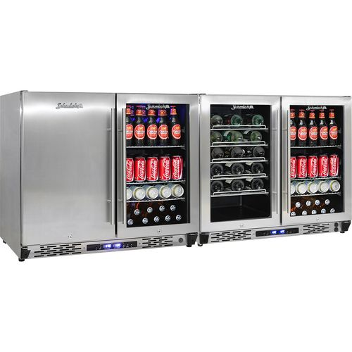 Multi Purpose Fridge Freezer Beer And Wine Refrigerator JC363-Combo